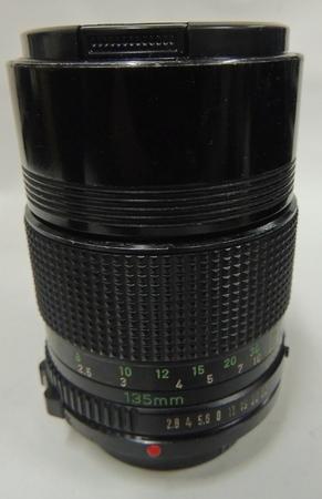 Canon 135mm f2 8 FD Lens