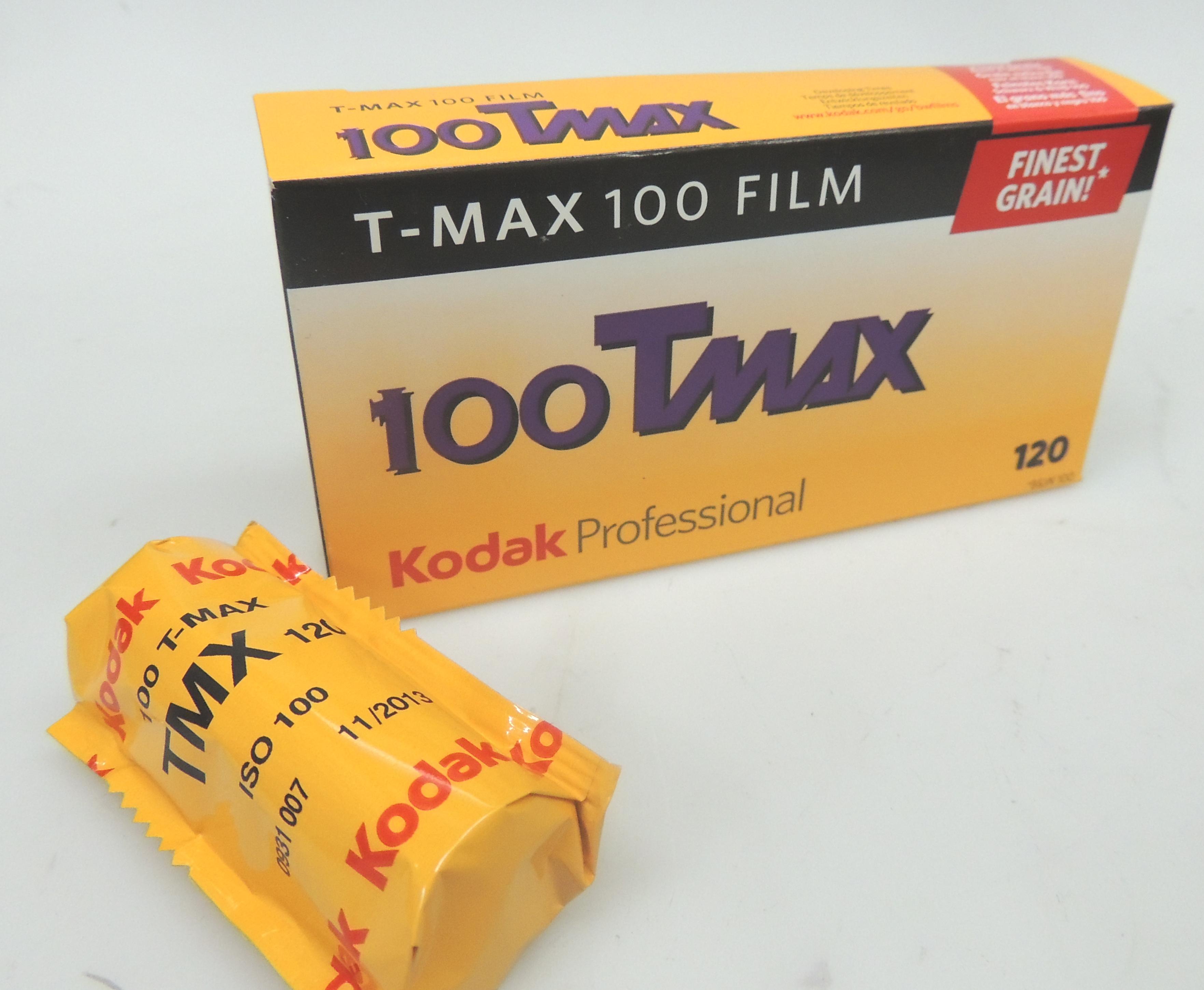Kodak 100 Tmax 120 B&W Film - x 5 Rolls